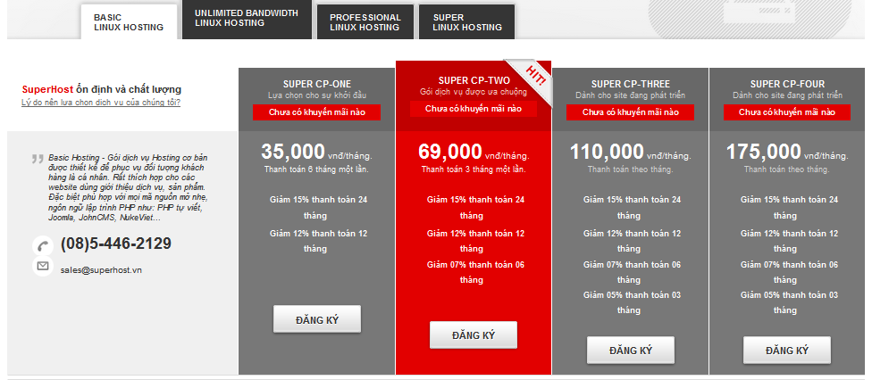 [Superhost.vn] - Bảng giá dịch vụ Hosting_VPS_Server_Domain Superhost - www.TAICHINH2A.COM